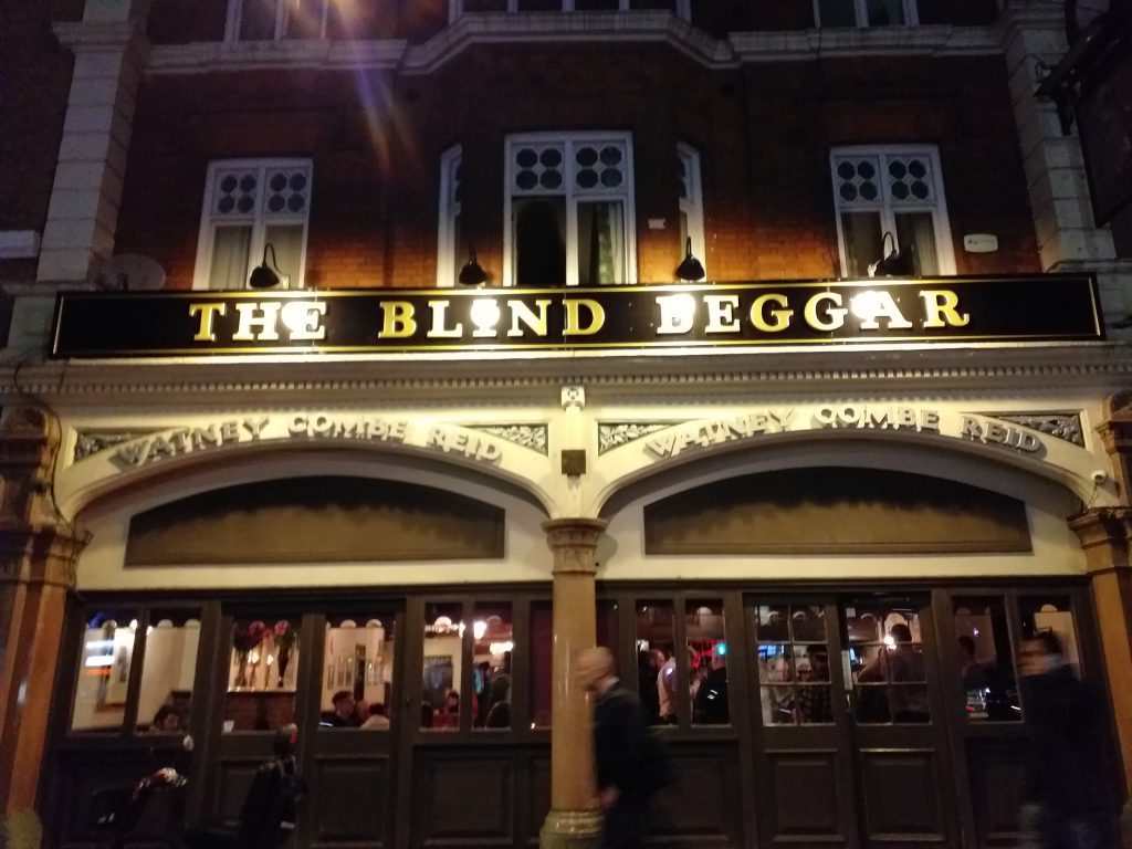 The Blind Beggar, where Ronnie Kray shot George Cornell in the head