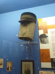 Joseph Merrick's (The Elephant Man) mask and cap in the Royal London Hospital Museum