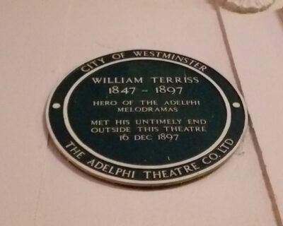 William Terriss was murdered outside the Adelphi theatre in 1897 (Photo: Philipp Röttgers)