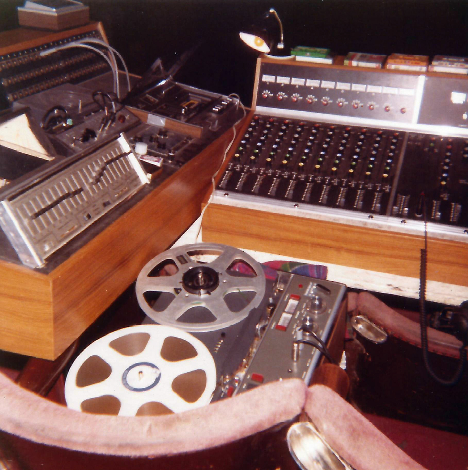 Revox A77 and associated gear for Genesis at a concert in the Liverpool Empire, 1970s, precise year unknown (Photo: Rodhullandemu)